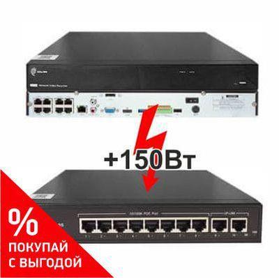 Регистратор NVR-167R-P8 + 150вт АйТек ПРО